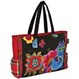 Laurel Burch Blossoming Spirits Oversized Tote (Blossoming Spirits)
