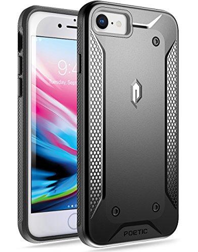 iPhone 7 / iPhone 8 Case, Poetic QuarterBack [Corner/Bumper Protection][No Bulk][Dual Protection]-Stylish PC+TPU Protective Case for Apple iPhone 7 (2016)/ iPhone 8 (2017) Case Black