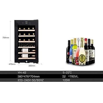 LXD Nevera para vino con compresor y bodega de vino independiente ...