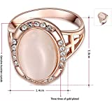 Winter.Z Noble and Elegant Ladies Jewelry Popular Explosion Models Austria Crystal Rose Gold Oval Opal Ring Wedding