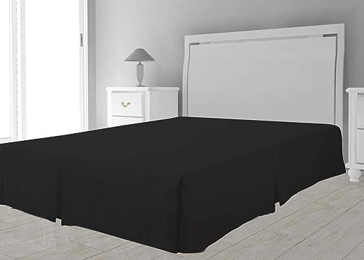 Cubre somier de Microfibra 160 x 200 cm Negro