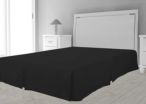 Cubre somier de Microfibra 90 x 190 cm Negro