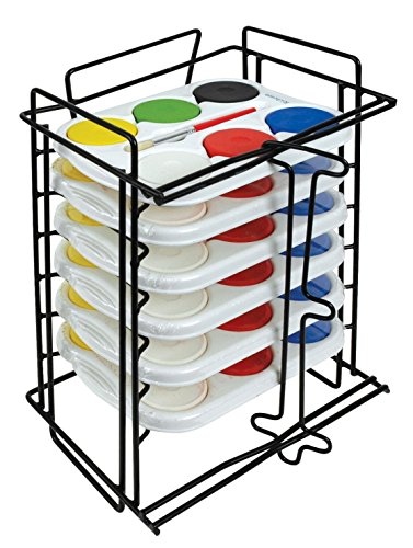 (Jack Richeson 6 Tempera Sets in 6 Hole Trays with Rack)