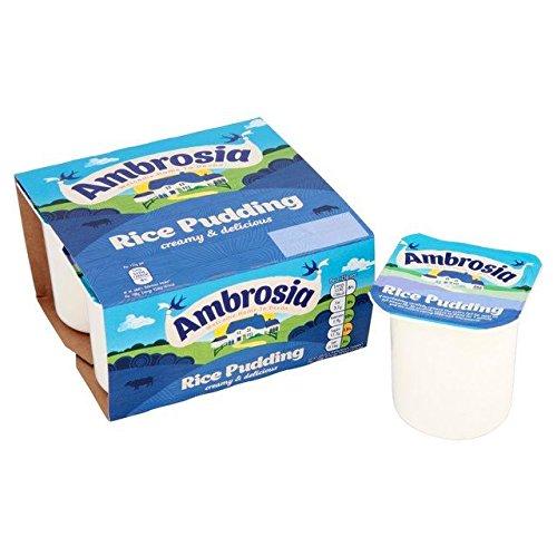 Ambrosia Rice Pudding Pots - 4 x 125g (Rice Mix Pudding)