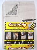 5 x 5 master flash - CoverGrip 005808 8oz x8 8 oz Canvas Safety Drop Cloth, 5' x 8, White