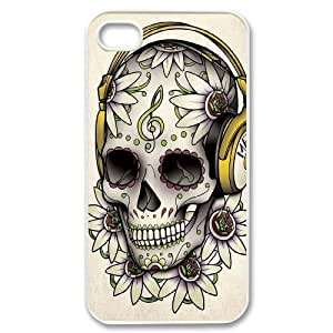 Hard Shell Case Of Sugar Skull Customized Bumper Plastic case For Iphone 4/4s