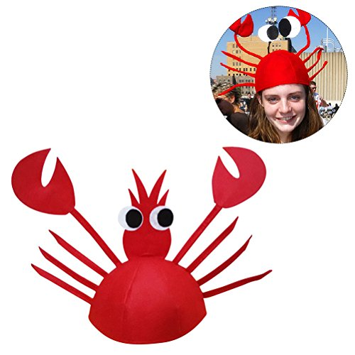 LUOEM Adjustable Party Fun Hat Seafood Restaurant Lobster Cap for Child or Adult (Halloween Food For Adults)