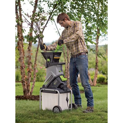 Electric Mulcher (Earthwise GS70015 15-Amp Electric Garden Chipper/Shredder with Collection Bin)
