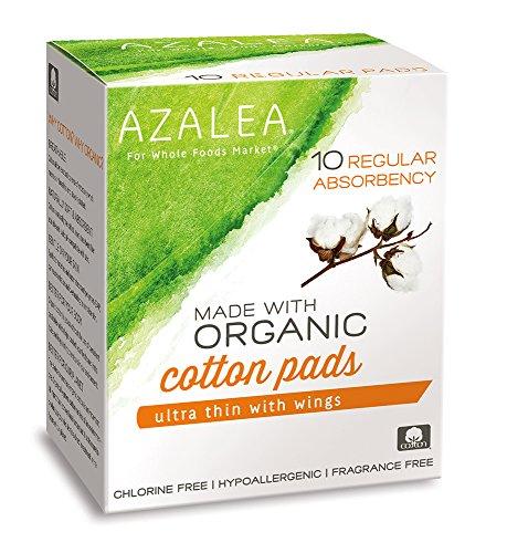 Azalea, Made with Organic Cotton Pads, Regular, 10 (Panty Liner Regular Cotton)