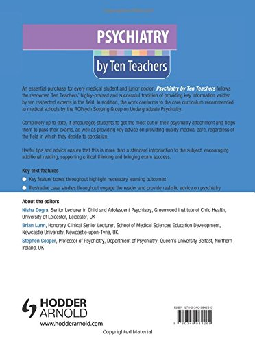 Psychiatry by Ten Teachers: Amazon co uk: Nisha Dogra, Brian