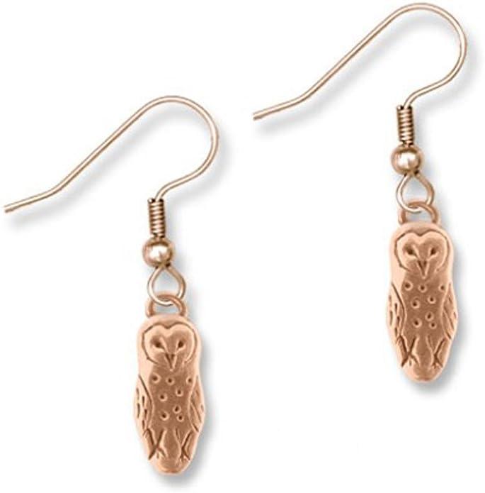 Owl Dangles Owl Jewelry Bronze Owl Earrings Woodland creatures earrings Bird Earrings Owl