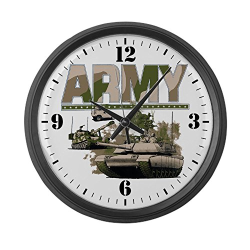 Large Wall Clock US Army Hummer Soldiers Tanks