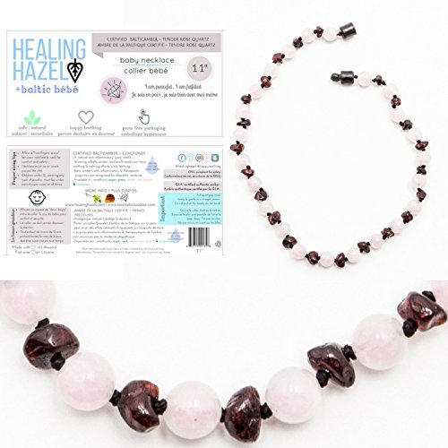100-certified-balticamber-pop-clasp-baby-necklace-by-healing-hazel-with-tender-rose-quartz-gemstone-