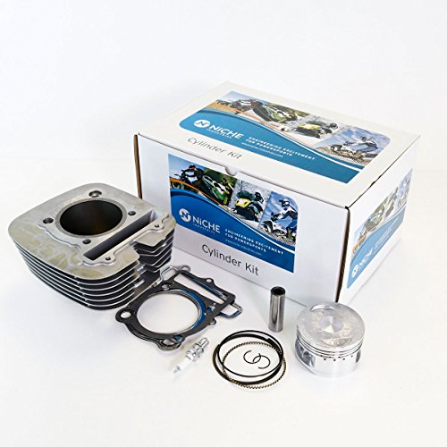 NICHE Cylinder Piston Gasket Top End Kit for Yamaha Big Bear 350 - Piston Big Bear