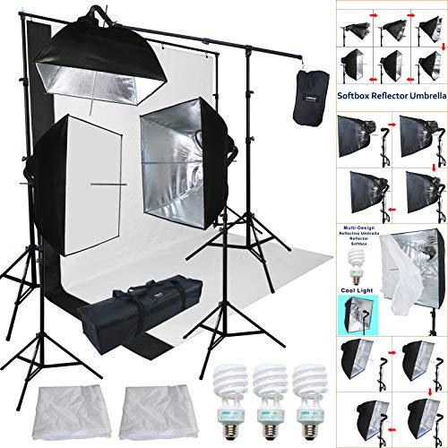 Linco Lincostore Studio Lighting 3 Point Light Backdrop Background Support with Boom Arm Stand and Counterweight from Linco