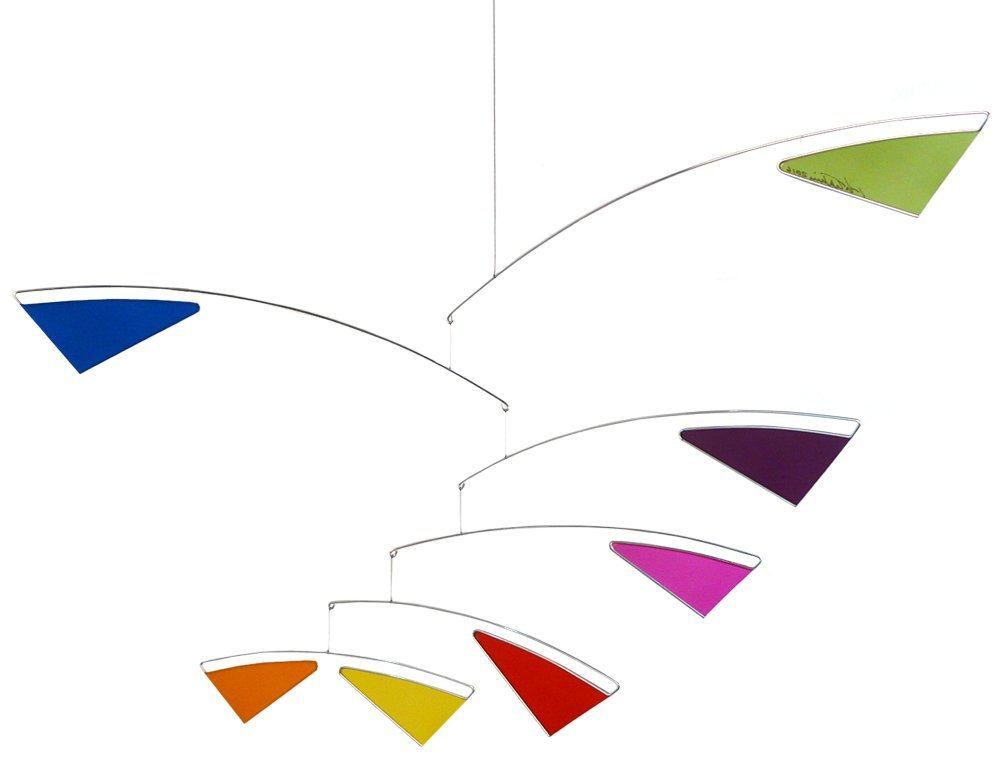 Tranquil Spectrum Multicolor Modern Mobile, 22'' x 34'', American Made by Modern Artisans