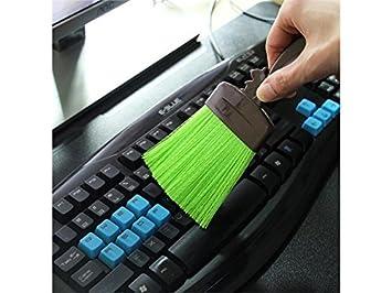 YIIO Cómodo Cepillo de Limpieza de Dibujos Animados Herramientas Teclado portátil Cepillos de Limpieza multifunción para Oficina en el hogar (Verde): ...