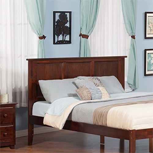 Atlantic Furniture Madison King Panel Headboard in Walnut
