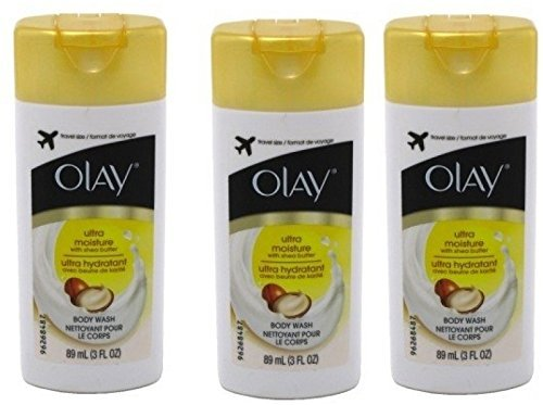 Olay Ultra Moisture Body Wash 3oz Travel Size (Pack of 3)