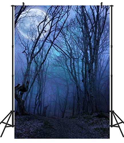 DULUDA 5X7FT Halloween Horror Forest Fabric Photo Backdrops Customized Studio Background Studio Props -