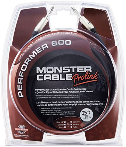 Monster Performer 600 Speaker Cable TS-TS Speaker Cable - 25' by Monster