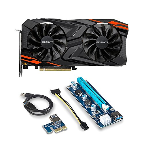 Gigabyte Radeon RX VEGA 56 GAMING OC 8G Graphic Card – GV-RXVEGA56GAMING OC-8GD and Riser for for ETH Etheruem ZEC Zcash XMR Monero Cryptocurrency Mining