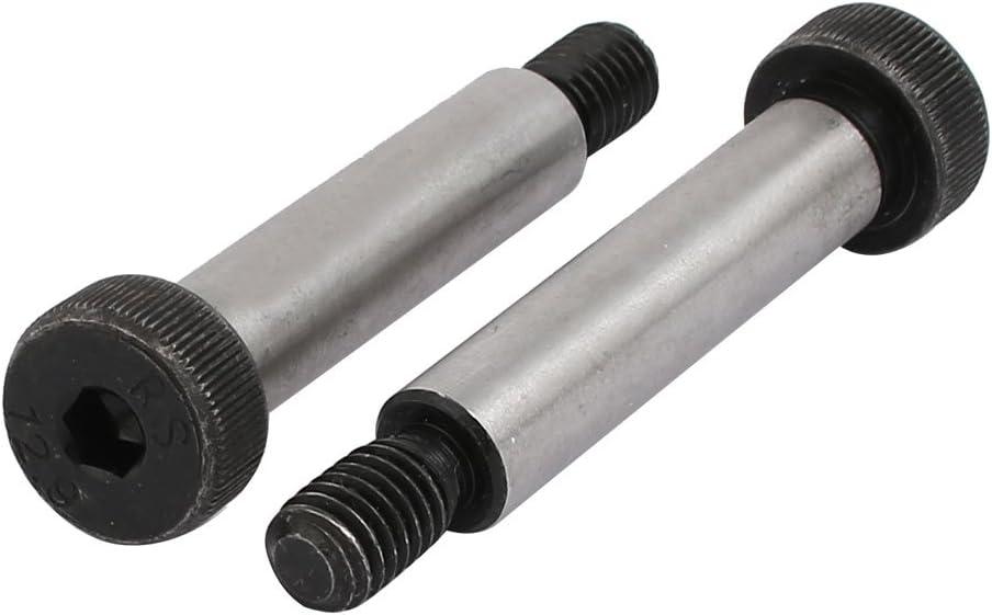 uxcell 5pcs 40Cr Steel Shoulder Bolt 8mm Shoulder Dia 10mm Shoulder Length M6x12mm Thread