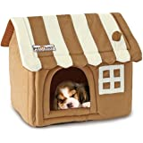 Pet House by Petories, Soft and Cozy Sturdy Pet House with Soft Removable Cushion, Perfect for Cats, Kittens and Puppies