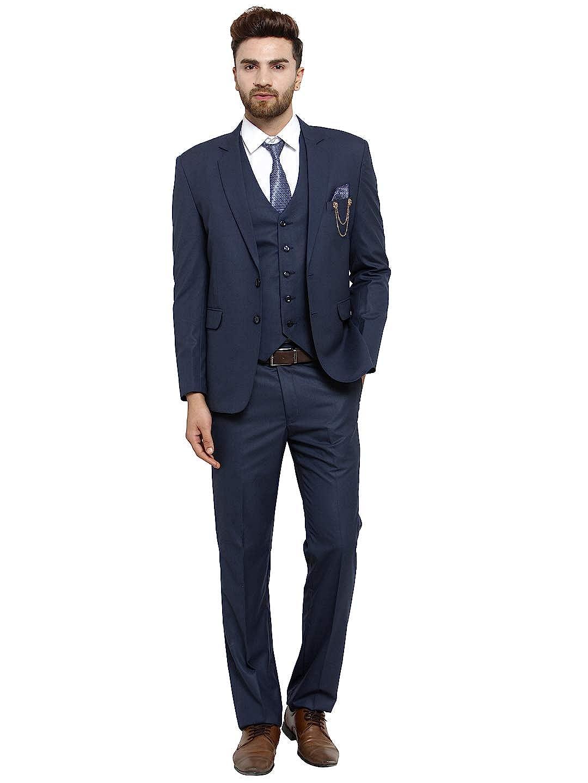 LUXURAZI Raymond Royal Blue Modish Mariner Blue Men\u0027s 3 Piece Formal Suit  Set