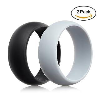 Hombres de silicona anillos de boda por YSD, Ultra cómodo, fuerte y seguro,