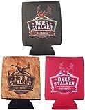 Combo 3 Pack – Deer Stalker Outdoors – Magnetic Neoprene Can Holder / Beverage Cooler / Insulator For Sale