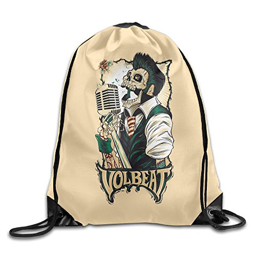 Cheap Volbeat Band Unisex Sport Bag Drawstring Backpack/Rucksack