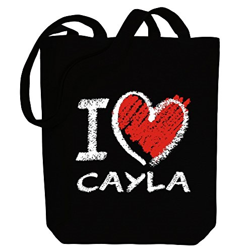 Bag Cayla I Canvas style love Names Idakoos Tote chalk Female qgz66