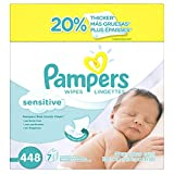Image of Pampers Baby Wipes Sensitive 7X Refill, 448 Count