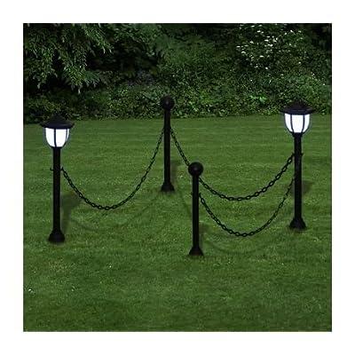 06b52911d5ec4e 2 x Lampe LED Lanterne Lampe de jardin Lampe d extérieur Lampe solaire 1 LED