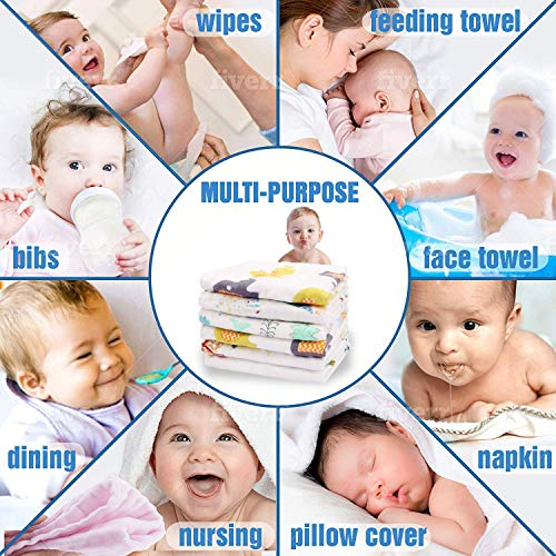 Republic Of Kids – Muslin Cotton 6 Layered Super Absorbent and Soft Wash Cloths/Squares/Reusable Baby Wipes/Baby Towel (30×30 Cms-Pack of 3)
