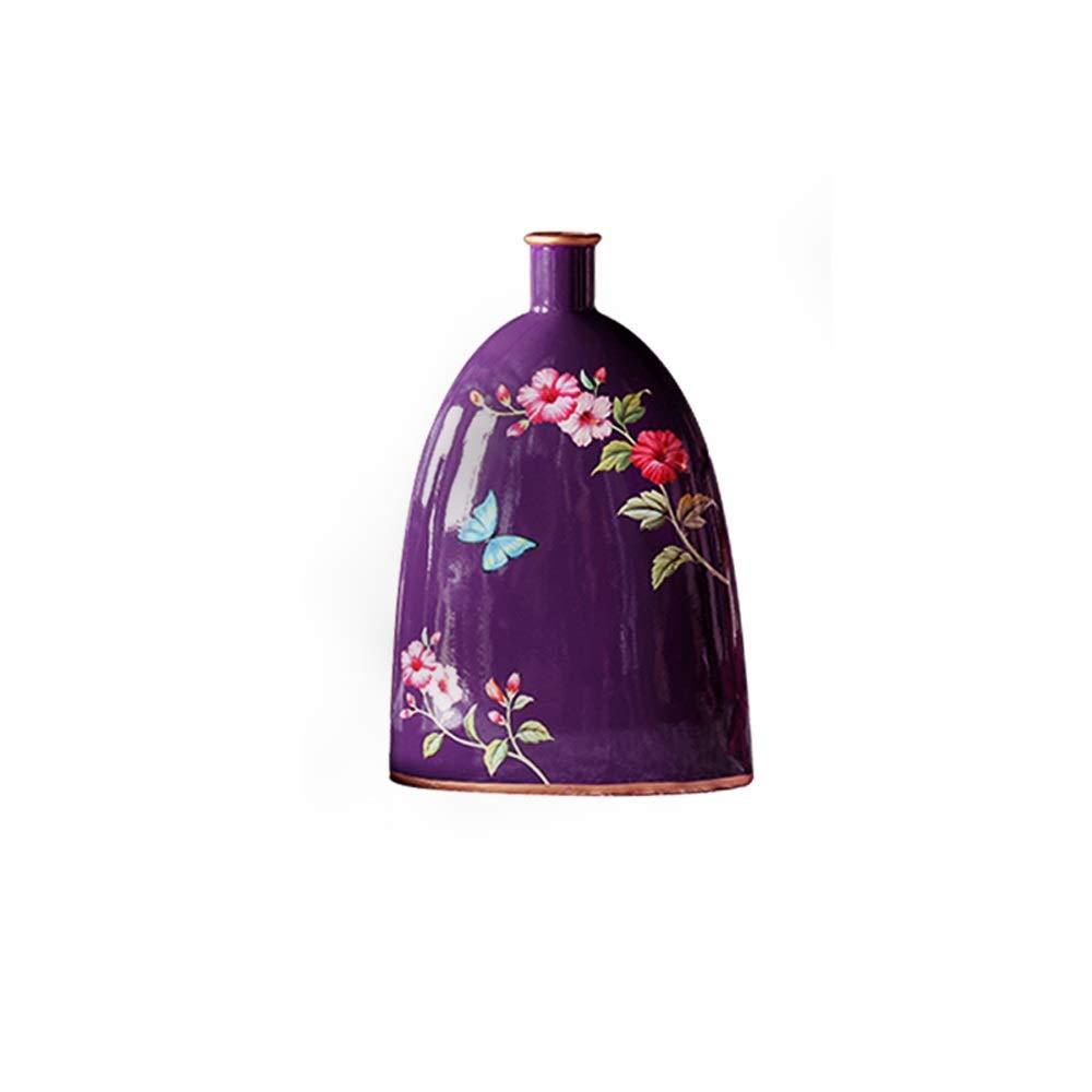 セラミック花瓶用花緑植物結婚式の植木鉢装飾ホームオフィスデスク花瓶花バスケットフロア花瓶 (サイズ さいず : L l) B07RB4ZM71  L l