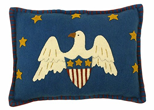 Bethany Lowe Sweet Land of Liberty Collection Americana Eagle Pillow Wool Applique