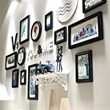 Solid Wood Photo Wall Combination Photo Frame Hanging Wall Decoration Simple Photo wall