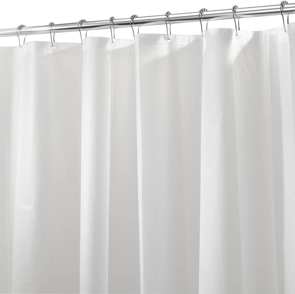 iDesign 3.0 Liner Shower Curtain, 180.0 x 200.0 cm Curtain for Shower, Made of Mould-Free PEVA, Frost