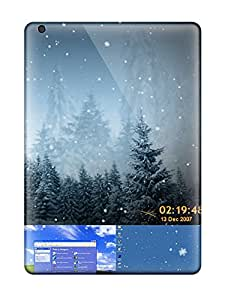 Hot Design Premium PNyNMBD1549QznbB Tpu Case Cover Ipad Air Protection Case(fantastic Animated Snowflakes Screensaver)