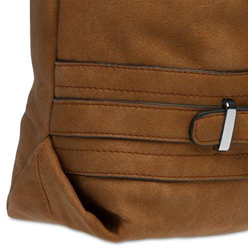 de Sac avec pour ceinture boucle épaule Cognac TS1019 porté à femme main décoration CASPAR CP8wxTqnH5