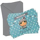 6 cartons d'invitation Chevalier + enveloppes