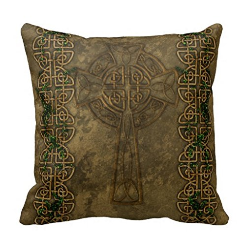 Celtic Cross And Celtic Knots Pillow Case (Celtic Cross Throw)