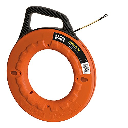 Klein Tools 56009 Fiberglass Fish Tape with Spiral Leader, 50-Foot