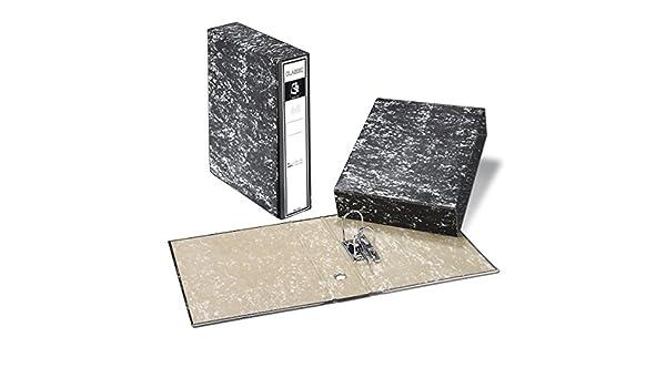 Archivador A-Z + Caja PRAXTON Negro Jaspedado, Din-A4 75 mm.: Amazon.es: Oficina y papelería