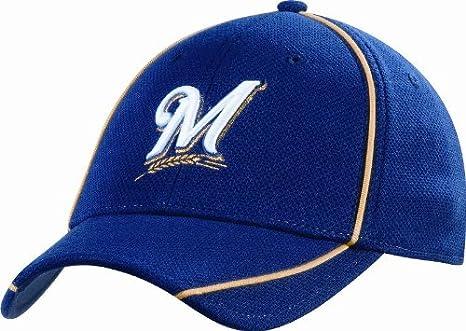 Amazon.com   MLB Milwaukee Brewers Authentic Batting Practice Cap ... ebc7d7f840f