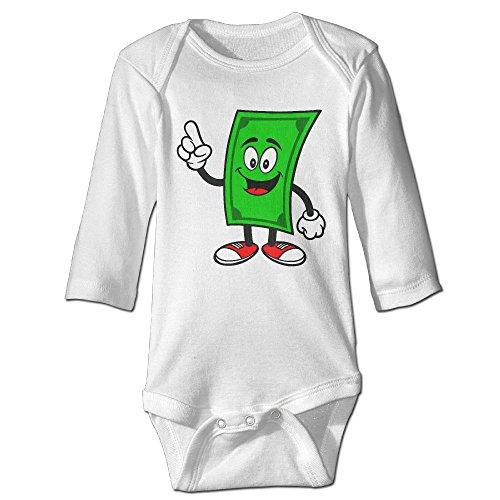Billion Dollar Baby Costumes (Fashion Baby Boys & Girls Dollar Bill Talking Long-sleeve Bodysuit)