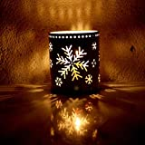 Kimanli Christmas Hollow Candle Holder Desk Party Ornaments Christmas Tree Hanging Decor Gifts Hot! (B)