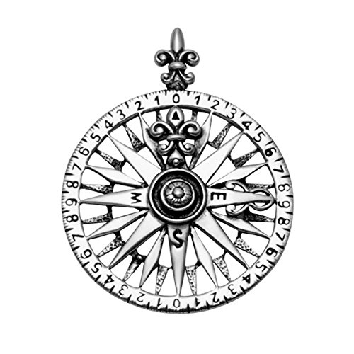 Wild Things Sterling Silver Compass Rose Pendant